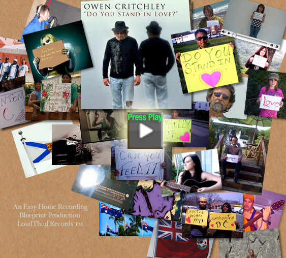 Owen Critchley's worldwide collaboration with home recording artists