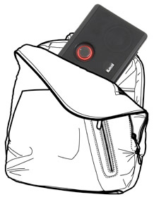 iLoud monitors fit in a backpack
