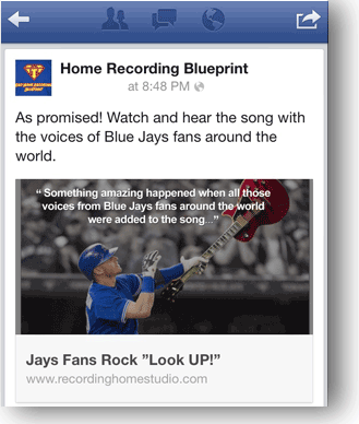 facebook song promotion